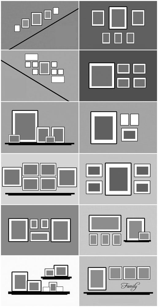 regarde comment disposer tes cadres touben 39 s cr ations. Black Bedroom Furniture Sets. Home Design Ideas